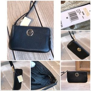 Michael Kors leather Fulton TZ medium Wristlet